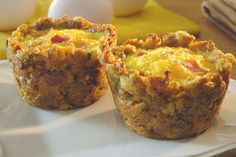 Press STOVE TOP stuffing into a muffin tin. Add an egg to each cup, top with cheese and bacon bits and bake 20 minutes. Behold: tasty on-the-go eats!