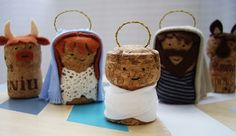 Great nativity idea with corks!