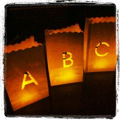 If you can think it, we can write it and light it! Order your letter and number candle bags at www.candlebagsonline.com.au, prices start from $2.00. We ship super fast Australia wide.