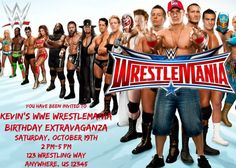 WWE Invitation by PartyKulture on Etsy