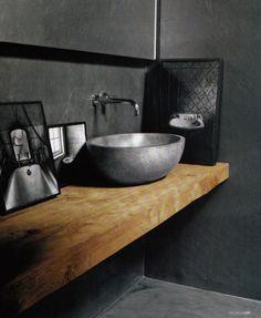 """Piano lavabo in legno massello resinato - Wanos """"Wood & Design"""""""