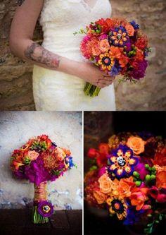 Dia De Los Muertos Wedding Bouquet...