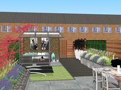 Back Garden Design, Creative Landscape, Outdoor Living, Outdoor Decor, Green Garden, Back Gardens, Terrazzo, Garden Planning, Lounge