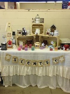 The Sassy Homemaker: My Scentsy booth display at the County Fair....I like the idea of the wine boxes