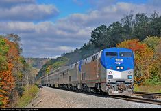 AMTK 106 Amtrak GE P42DC at Philson, Pennsylvania by Ed Wolfe