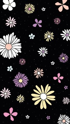 Find images and videos about flowers, wallpaper and background on We Heart It - the app to get lost in what you love. Wallpaper Spring, Daisy Wallpaper, Cute Pastel Wallpaper, Flower Phone Wallpaper, Cute Patterns Wallpaper, Aesthetic Pastel Wallpaper, Kawaii Wallpaper, Cartoon Wallpaper, Background Patterns