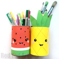 Looking to brighten up you school supplies? Check out these fun Summer Pencil Holders - fruity fun, quick and easy to make. Smiggles inspired cuteness.