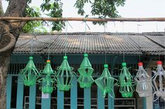 plastic bottles garland