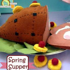Vintage style #felt #ham for #Easter #americanfeltandcraft #feltfood #springsupper #diy #craft #pattern   Flickr - Photo Sharing!