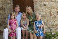 Princess Alexa, Crown Prince Willem Alexander, Princess Amalia, Princess Maxima, Princess Ariane of the Netherlands