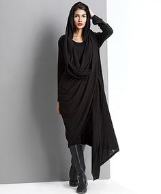 Look what I found on #zulily! Black Drape Open Cardigan #zulilyfinds-- I just need someone to buy it for me