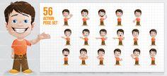 Funny Boy Cartoon Character #cartooncharacter #vectorcharacter #character