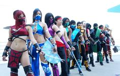 Mortal Kombat cosplay group taken by Eurobeat Kasumi Photography