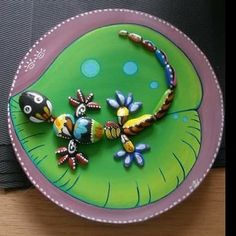 Art#galets#decoration#salamandre#peinture#nature#