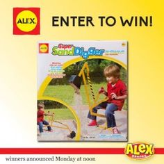 Weekend Giveaway! Enter to win a Super Sand Digger from Alex Toys!