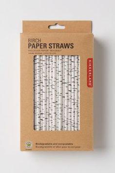 Cute birch tree style straws