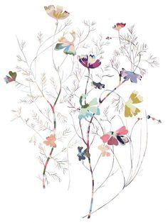 Papillion - Gouache on paper 76 x 56 cm by Kirra Jamison