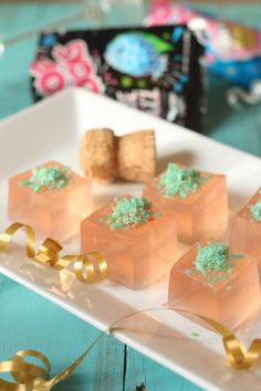 Pink Champagne and Pop Rocks Jello Shots for NYE!