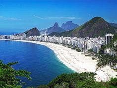 Located in Rio de Janeiro, the iconic Copacabana Beach is home to some of Brazil's famous beach beauties. The beach stretches between lifeguard watchtowers 2 and 6. And you may not know it, but American football was introduced in Brazil through a game played on this popular beach.