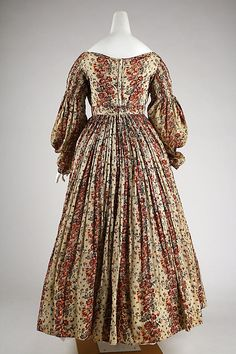 Dress Date: 1835–36 Culture: American or European Medium: cotton Accession Number: C.I.41.128.1