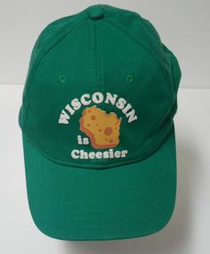eea2ebc56af American Eagle Wisconsin Is Cheesier Cheese Head Green Trucker Cap Hat size  S M