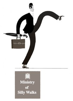 Ministry of Silly Walks. I assume that is John Cleese