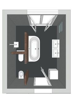 Regardless of the type of bathroom layout design you choose, it is always important to stick with the basic necessities. The amount of space you want Layout Design, Bathroom Design Layout, Bathroom Interior Design, Bathroom Layout Plans, Design Ideas, Small Bathroom Plans, Bathroom Floor Plans, Interior Modern, Design Concepts