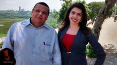 Rodrigo Rangel e Joyce Maíra gravando a chamada do Vale Shop TV !