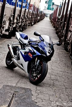 First bike where it all began<3 It was a silver and black gsxr.  Suzuki gsxr 1000 by Matthieu Pegard