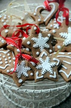 Gingerbread Cookies on ribbons