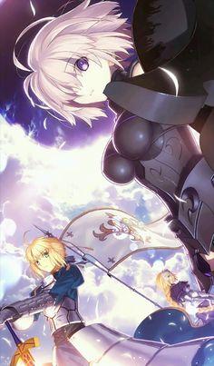 Fate/stay night,Fate (series),Fate (srs),Anime,Аниме,Saber (Fate),Shielder (Fate/grand order),Ruler (Fate/Apocrypha),Fate/Apocrypha