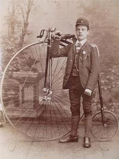 Great old high wheel pennyfarthing bicycle