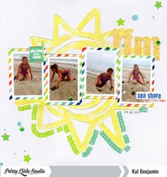 """Layout by Kat Benjamin uses """"Make a Splash"""" cut file from The Cut Shoppe."""