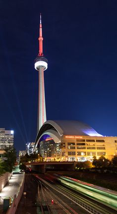 CN Tower & Rogers Centre, Toronto by Wolfgang Woerndl, via 500px. #cities #Canada #travel