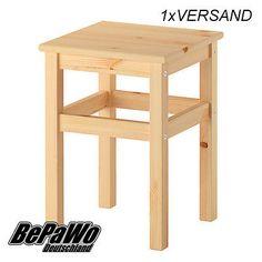 IKEA-ODDVAR-Hocker-Holzhocker-Schemel-Holzschemel-33x33x45cm-Massive-Kiefer-NEU