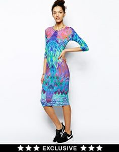 Textile Federation Midi Dress In Xroma Print Dress Me Up, Fashion Online, Asos, Textiles, Maxi Dresses, Party Dresses, Lady, My Style, Shopping