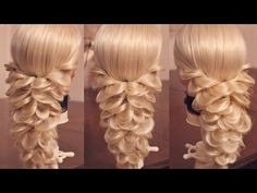 "Hairstyle for long hair - Причёска на резинках - ""Русалка"" - Hairstyles by REM - YouTube"