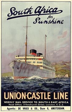Union-Castle Line - South Africa for sunshine - (Maurice Randall) -