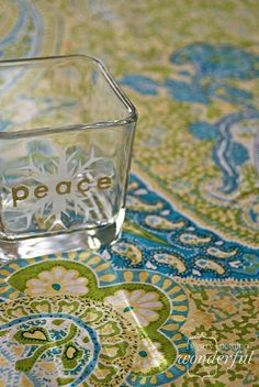{every}nothing wonderful: Homemade Holidays: Heat Embossing and Etching on Glass