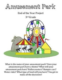 This is a great project based learning activity for any grade. It goes with the 3rd grade SOLs but can be modified to work for any grade. Has math, reading, science and social studies standards. Students get to create an amusement park!