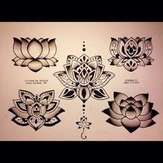 Lotus tattoo flash  Mike Attack Richie's Tattoo, long Island, NY E-mail Mikeattacktattoo@gmail.com Instagram @Mikeattack_tattoo