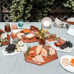 Gorgeous wood and marble trays for your entertaining tables from The Citizenry.