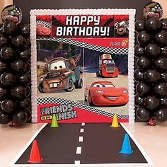 They'll zoom in to see a Cars 3 Balloon Column Kit! This Cars 3 decoration kit includes Cars 3 balloons featuring Lightning McQueen, Cruz Ramirez, and Jackson Storm. Use this balloon column kit for a Cars 3 party! Balloon Column Kit, Balloon Tower, Car Themed Parties, Cars Birthday Parties, 3rd Birthday, Birthday Ideas, Los Cars, Pixar Cars Birthday, Party Kit