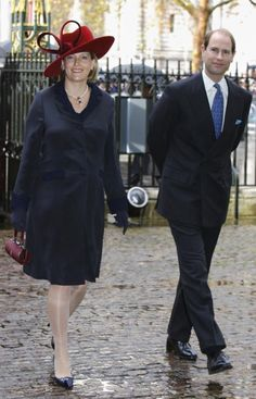 Sure, she was eight months pregnant at the time, but all attention was on Sophie, the Countess of Wessex' stand-out red hat, not her stomach, as she headed to a thanksgiving service at Westminster Abbey in London celebrating Queen Elizabeth and Prince Philip's diamond wedding anniversary in 2007. Prince Edward's wife was expecting her second child James, Viscount Severn, and like all good royals made sure to dress her bump appropriately in a subtly tailored dress coat.