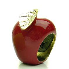 Hand Painted Apple Ring, Apple Ring, Red Apple Jewelry, Fruit Jewelry, William tell, Apple Jewelry on Etsy, $28.00