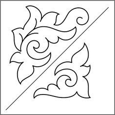"Taro ""i - Trójkąt Blocks - Stencil Stencil Patterns, Zentangle Patterns, Quilt Patterns, Indian Embroidery, Embroidery Patterns, Machine Embroidery, Longarm Quilting, Free Motion Quilting, Stencils"