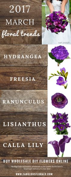 2017 MARCH Seasonal  wedding flower trends! www.fabulousflorals.com The DIY…