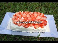Ice Cream Birthday Cake/Recette de gâteau d'anniversaire glacé aux fraises/