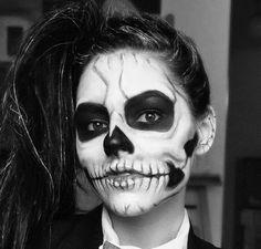 skeleton face paint - Google Search Skeleton Face Paint, Spooky 2, Swimmers Ear, Halloween Face Makeup, Painting, Google Search, Forget You, Cute, Painting Art