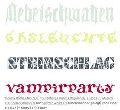 Herbstfonts für Nebel, Dämmerung und Kostümfeste … http://www.fontshopblog.de/2012/09/26/typen-zum-gruseln/